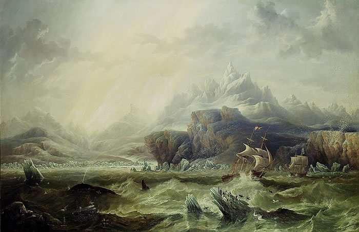 'Erebus' and 'Terror' in the Antarctic, John Wilson Carmichael, 1847
